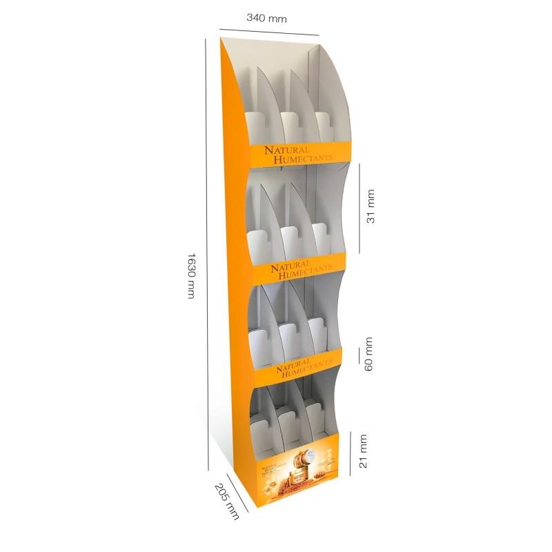 fabricant_plv_PLV Colonne arrondie 4 étagères