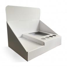 Présentoirde comptoiren carton A4 BIKOM Accueil