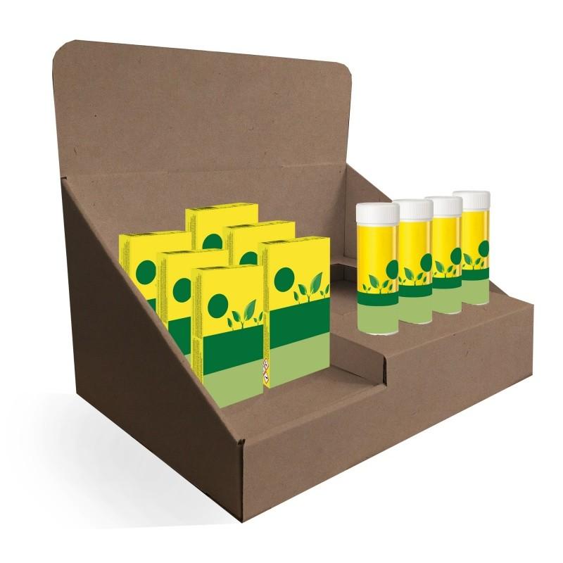 Présentoirde comptoiren carton A4 BIKOM PLV cosmétique