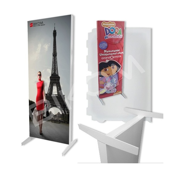 Totem en carton rectangulaire format 60 x 160 cm