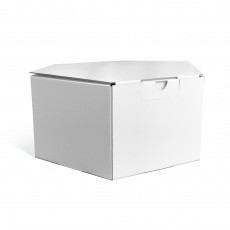 Boitehexagonaleen carton - 26 x 13cm