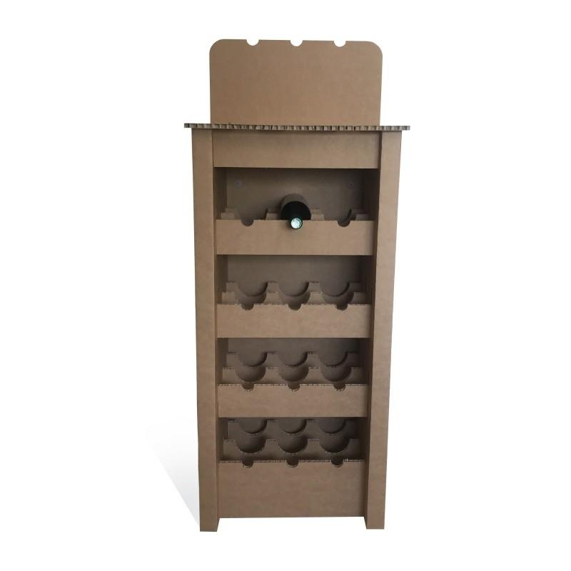 fabricant_plv_Meuble range bouteilles sur-mesure en carton