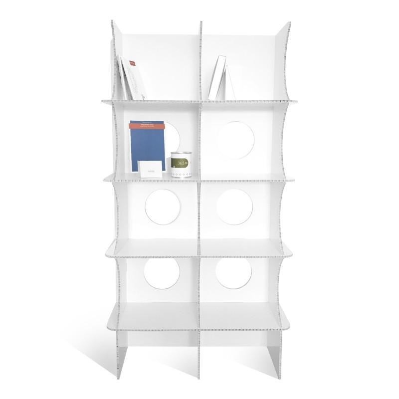 fabricant_plv_Meuble Bibliothèque en Carton