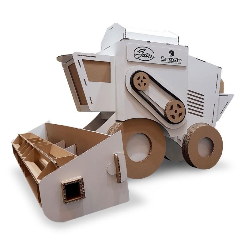 Moissonneuse-batteuse en carton Taille réelle BIKOM Décorations en carton