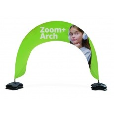 Arche Zoom + : arche drapeau publicitaire démontable