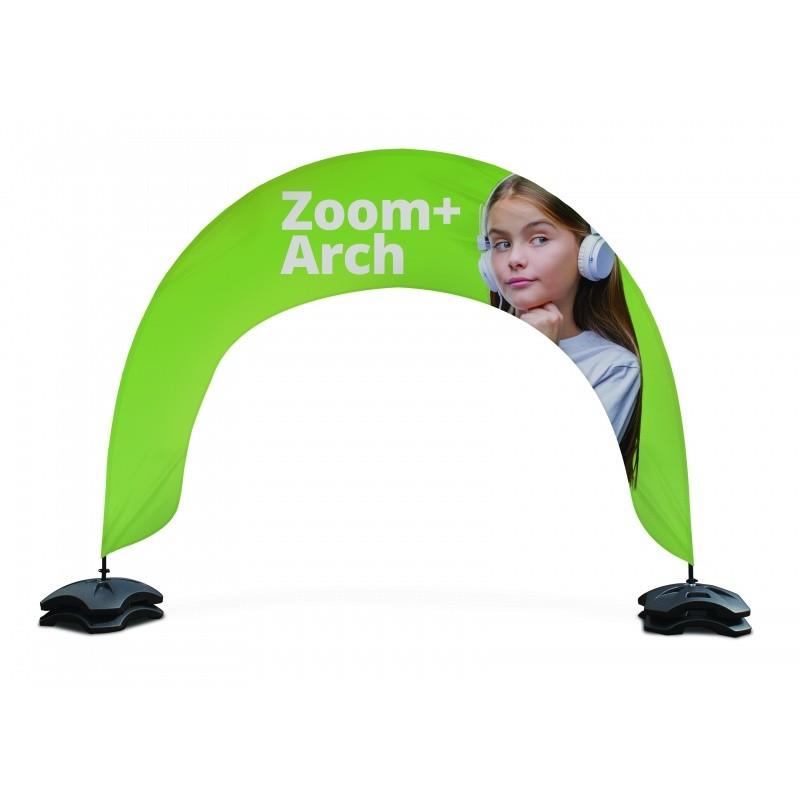 Arche Zoom + : arche drapeau publicitaire démontable BIKOM Accueil