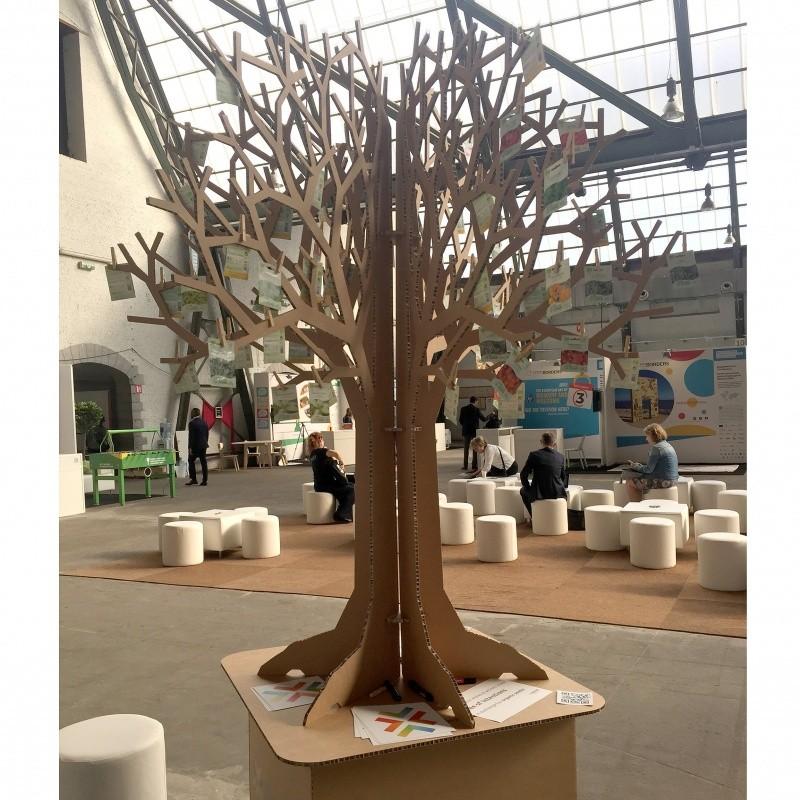 Arbre en carton recyclé personnalisable | 200 cm de haut BIKOM Arbre en carton