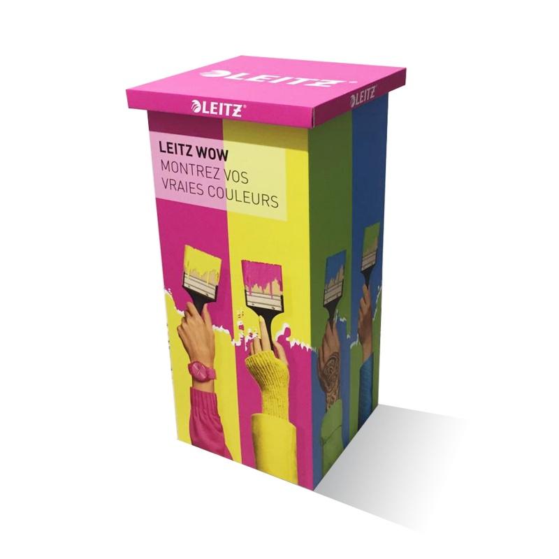 fabricant_plv_Mange debout en carton L.50 x l.50 x H.100 cm