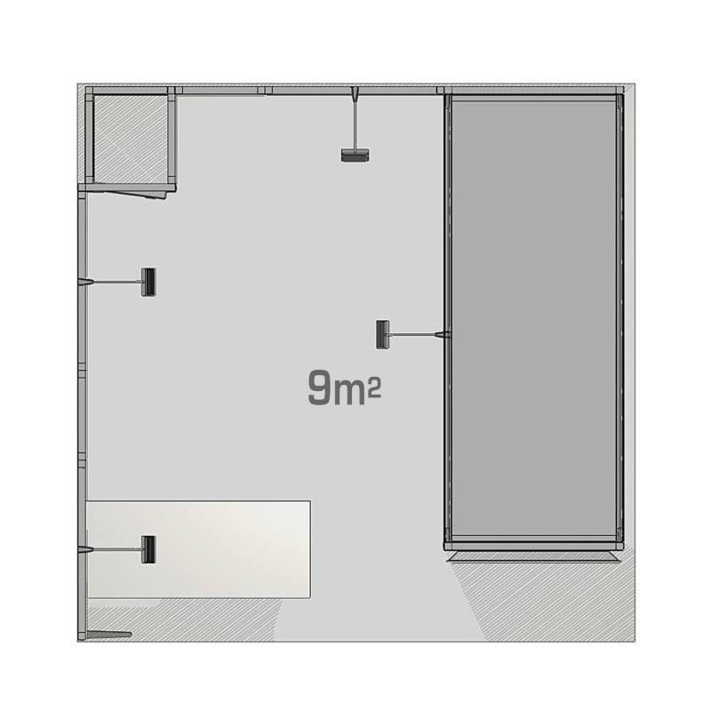 Stand modulaire 9m2 Panoramic H-Line BIKOM Stand modulaire