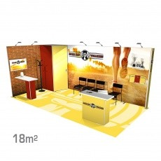 Stand modulaire 18m2 Panoramic H-Line