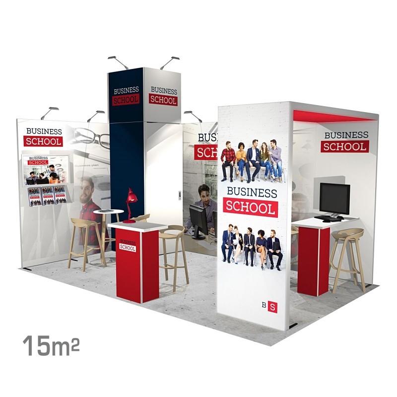 Stand modulaire 15m2 Panoramic H-Line BIKOM Stand modulaire
