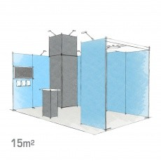 Stand modulaire 15m2 H-Line