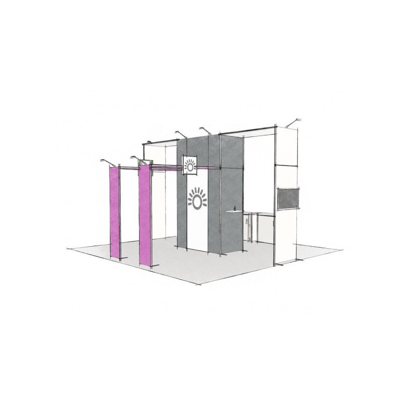Stand modulaire 36m2 Panoramic H-Line BIKOM Stand modulaire