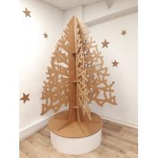 Sapin de Noël en carton à branches