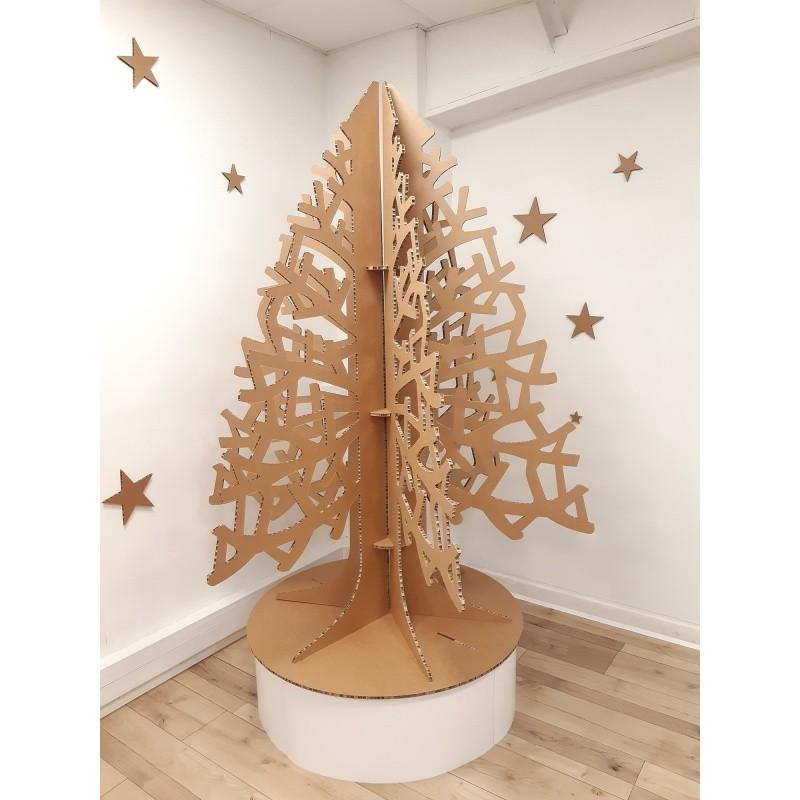 BIKOM Sapin de Noël en carton à branches