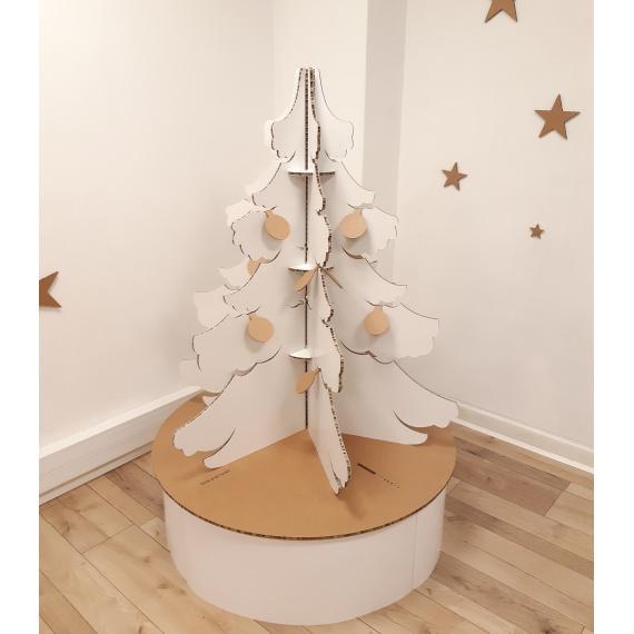 Sapin de Noël en carton modèle Touffu