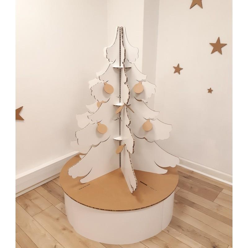 Sapin de Noël en carton modèle Touffu BIKOM Arbre en carton