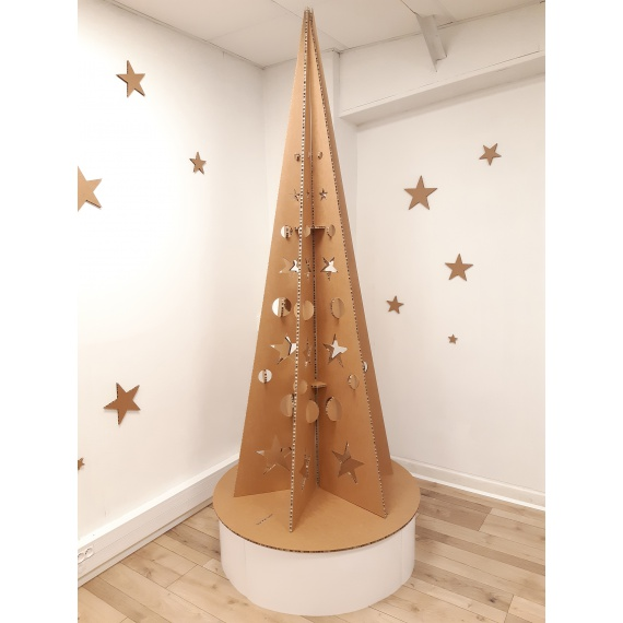 Sapin de Noël en carton modèle Géométrique