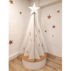 Sapin de Noël en carton modèle Mural