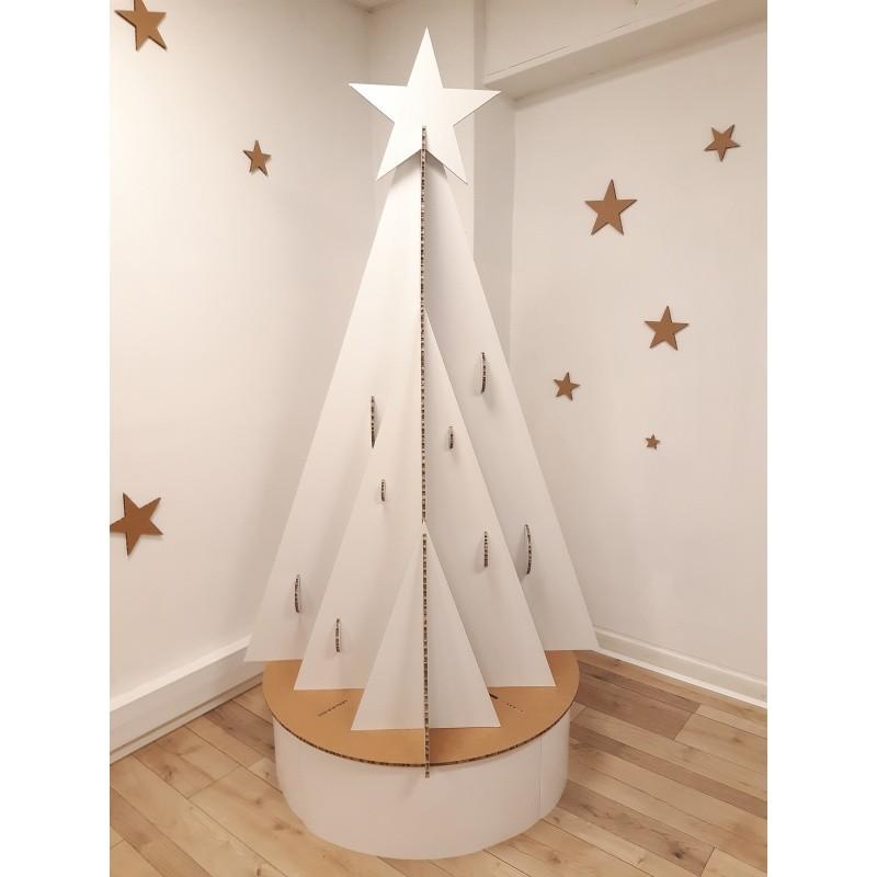 Sapin de Noël en carton modèle Mural BIKOM Arbre en carton