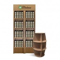 La colonne en carton - 4 étagères – Meubles PLV