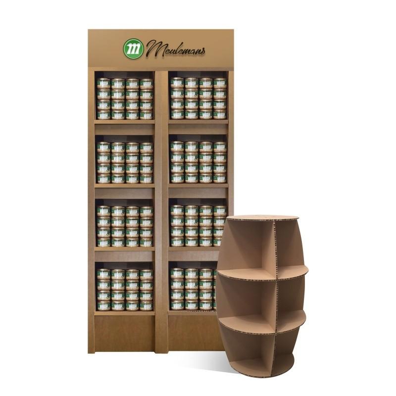 fabricant_plv_La colonne en carton - 4 étagères – Meubles PLV