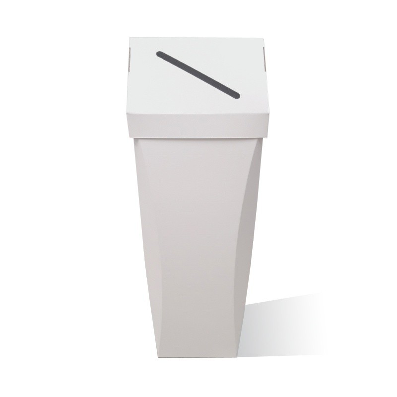fabricant_plv_Poubelle en carton 65L Personnalisable couvercle amovible
