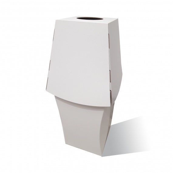 Poubelle Tulipe en carton 60L Personnalisable couvercle amovible BIKOM Poubelle et corbeille en carton