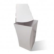 Poubelle Tulipe en carton 60L Personnalisable couvercle amovible