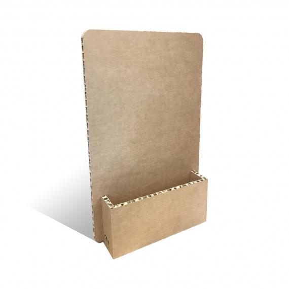 Porte-catalogue en carton alvéolaire