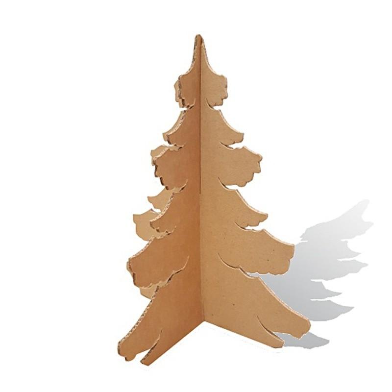 BIKOM Mini Sapin de Noël en carton modèle Touffu