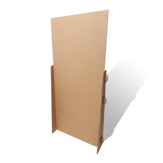 Panneau en carton alvéolaire personnalisable BIKOM Signalétique gestes barrières