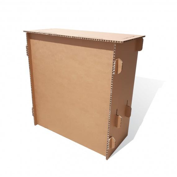 Comptoir en carton alvéolaire personnalisable BIKOM Mobilier de stand en carton