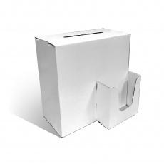 Urne à coupons personnalisable BIKOM Urne en carton blanche ou kraft