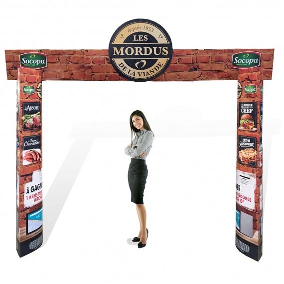 Arche télescopique modulable personnalisable  Arche en carton