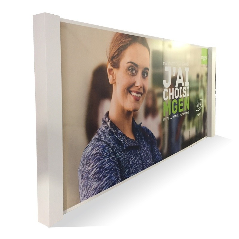 Mur d'images en carton alvéolaire BIKOM Mur d'image, photocall