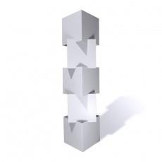Cubes superposables en carton recyclé personnalisable