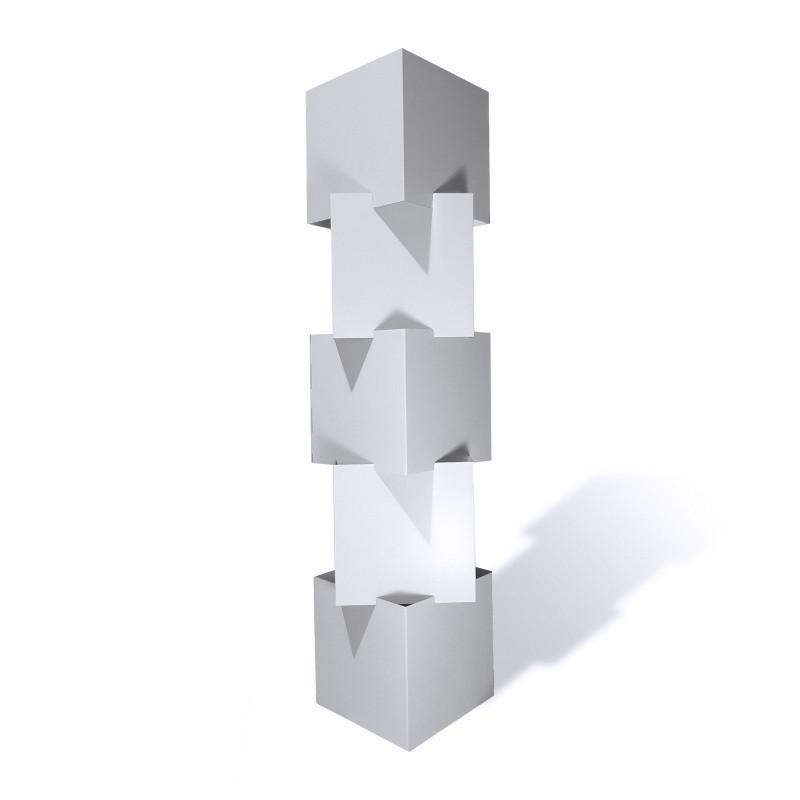 Cubes superposables en carton recyclé personnalisable BIKOM Cube en carton