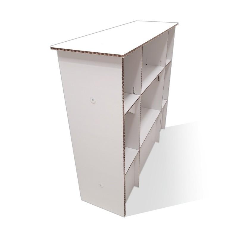 fabricant_plv_Comptoir en carton alvéolaire avec compartiments