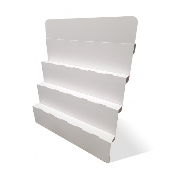 Escalier présentoir en carton