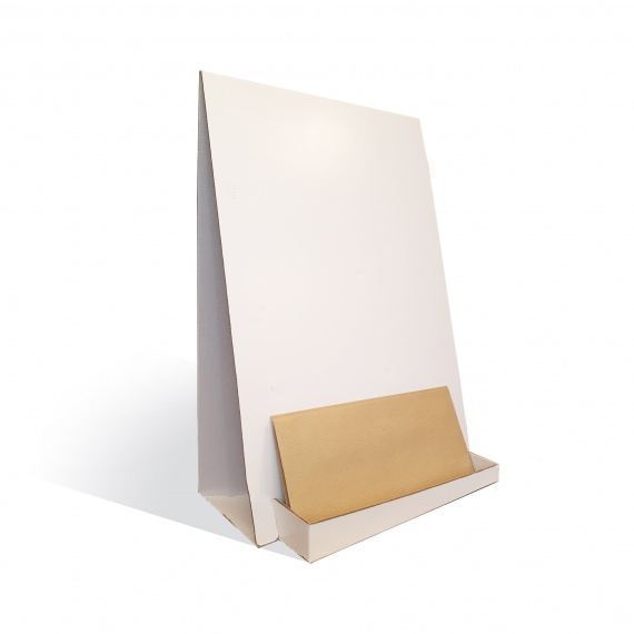 Porte catalogue de comptoir en carton BIKOM Présentoirs en carton