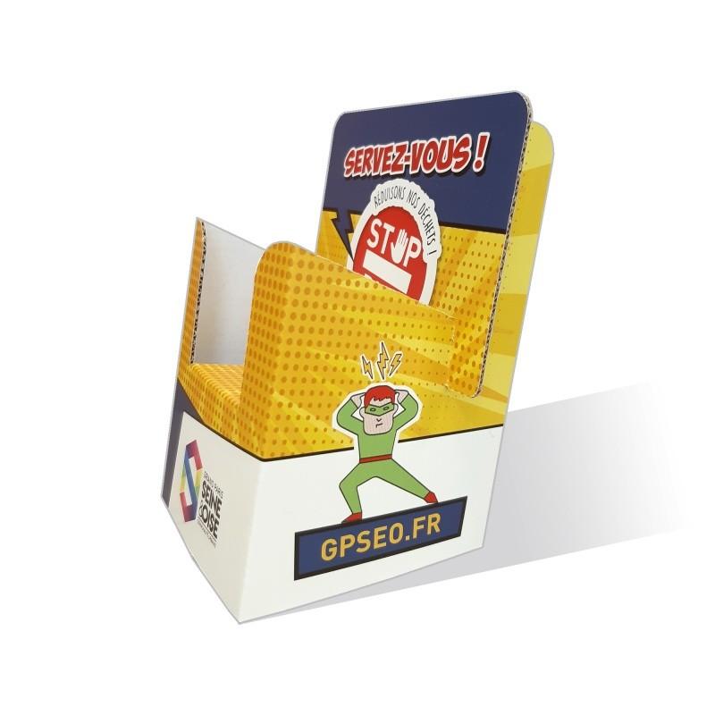 fabricant_plv_Porte-flyers en carton petit format