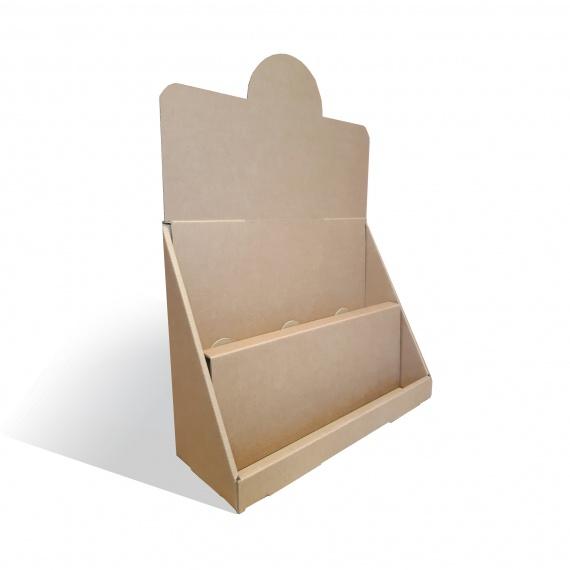 Présentoir carton deux niveaux