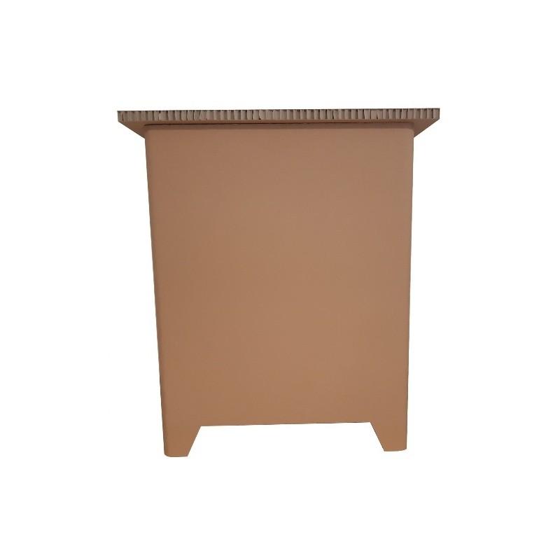 Comptoir d'accueil en carton alvéolaire personnalisable BIKOM Meuble en carton