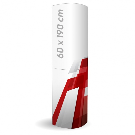 Totem en carton élliptique 60x190 cm (PLV) BIKOM Totem carton elliptique