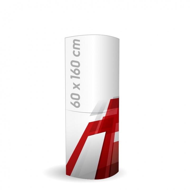 Totem elliptique carton 160 x 60 cm BIKOM Totem elliptique en carton