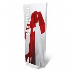 Totem carton rectangulaire 90 x 200 cm