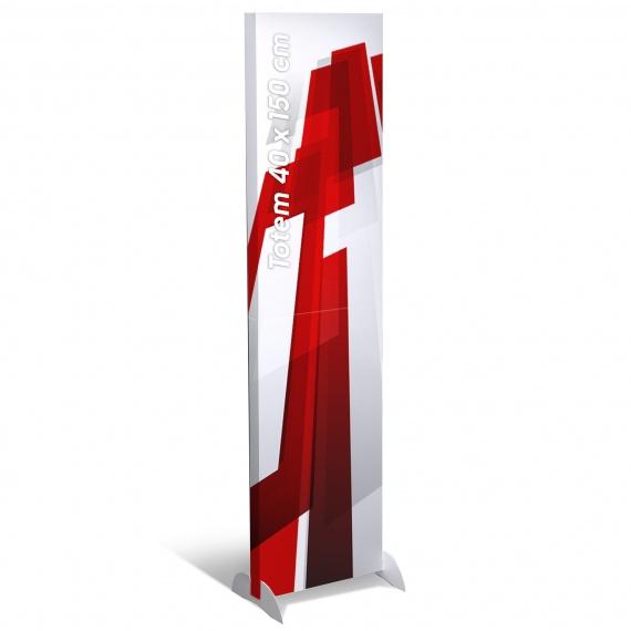 BIKOM Totem carton rectangulaire 40 x 150 cm