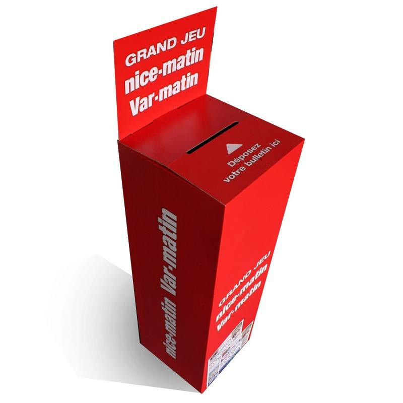 BIKOM Urne carton imprimée 30 x 30 x 120 cm