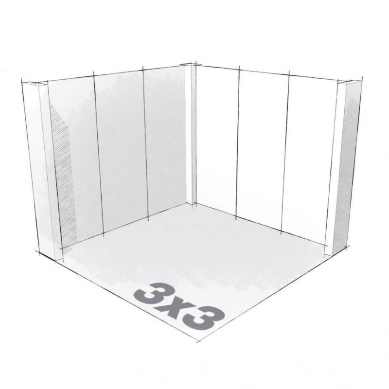 Stand 9m2 en carton recyclé BIKOM Stand parapluie